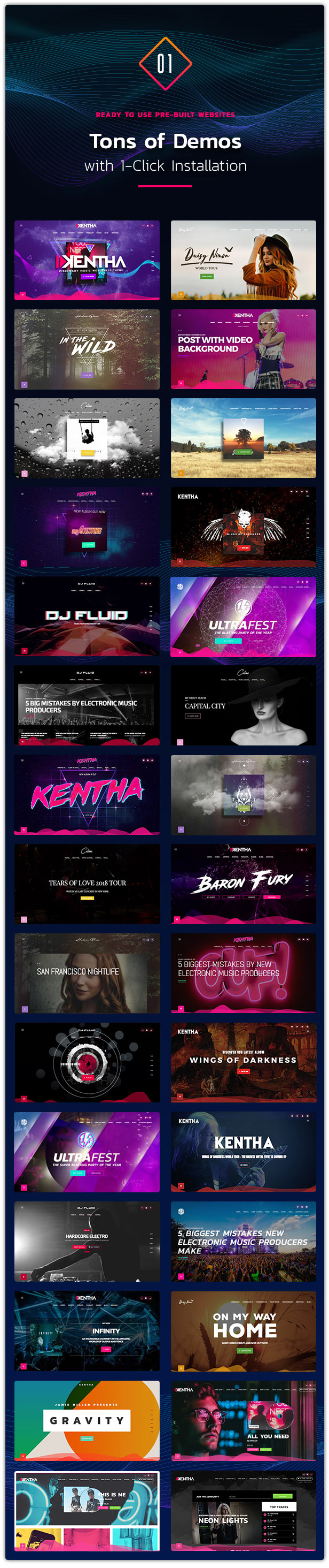 Kentha Music WordPress Theme 02