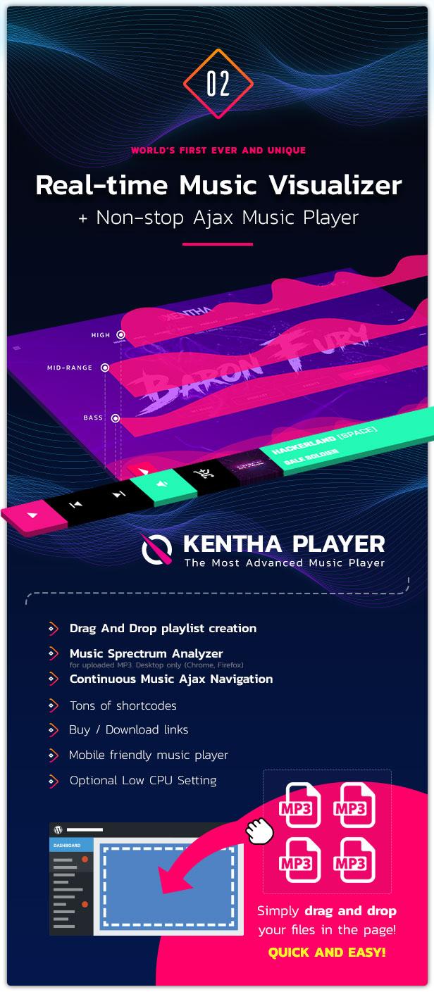 Kentha Music WordPress Theme 03
