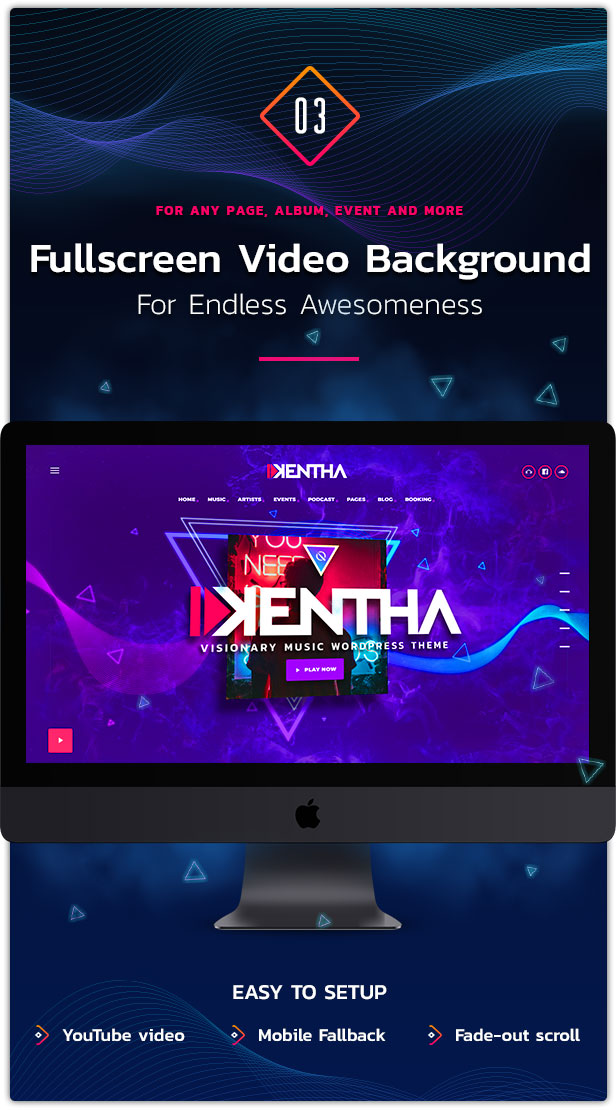 Kentha Music WordPress Theme 04