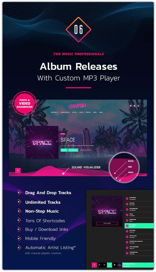 Kentha Music WordPress Theme 07