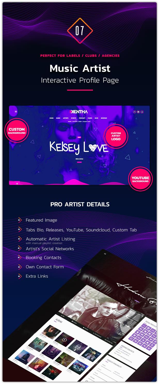 Download Kentha Visionary Music WordPress Theme Nulled