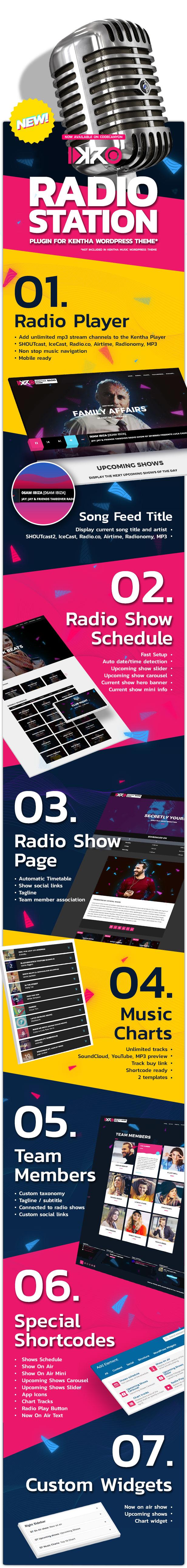 KenthaRadio - Addon for Kentha Music WordPress Theme To Add Radio Station and Schedule Functionality - 5