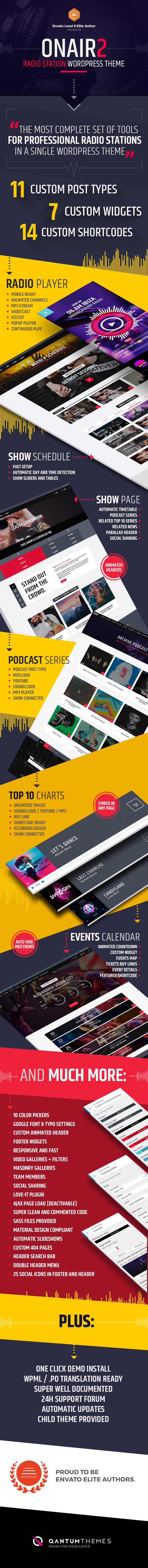 Onair2: Radio Station WordPress Theme With Non-Stop Music Player - 8