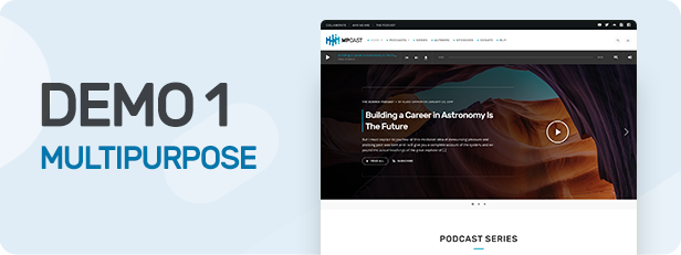Wpcast - Audio Podcast WordPress Theme - 1