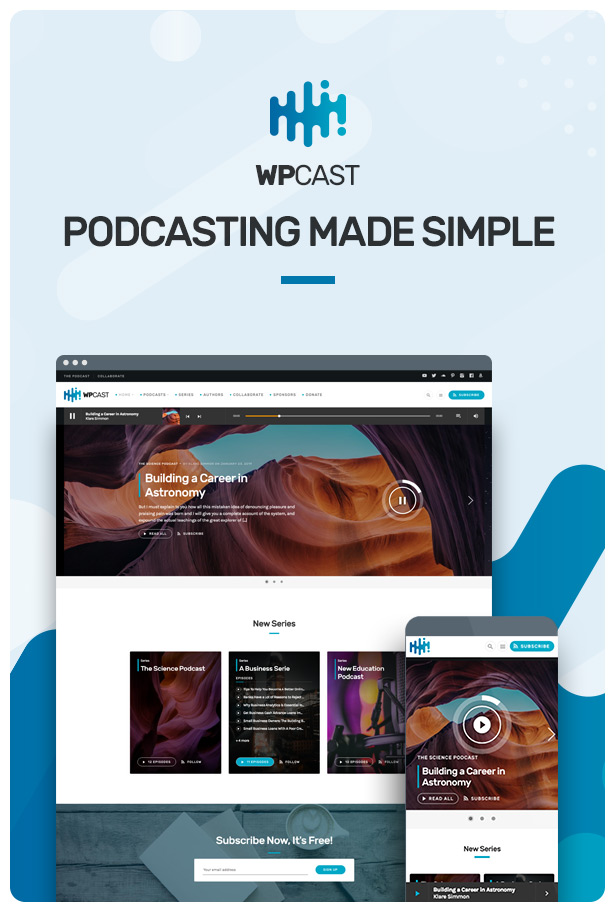 Wpcast - Audio Podcast WordPress Theme - 3